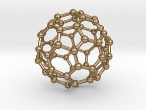 Buckminsterfullerene Keychain in Polished Gold Steel