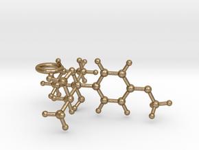 Venlafaxine Keychain in Polished Gold Steel