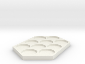 25mm Movement Tray in White Natural Versatile Plastic