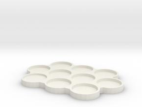 25mm Skeletonized Movement Tray in White Natural Versatile Plastic