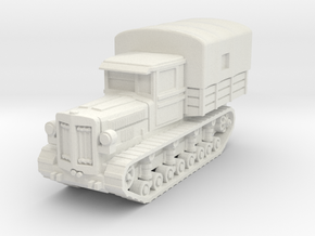 Komintern tractor (covered) scale 1/100 in White Natural Versatile Plastic