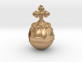 Holyhandgrenade_14mm in Natural Bronze