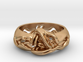 Sea Snake Ring. in Polished Bronze: 7 / 54