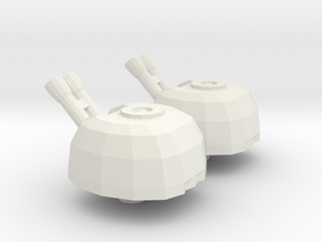 Titan Turret  in White Natural Versatile Plastic