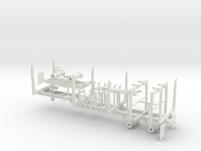 1/50th Quad Axle Log Trailer with Truck bunks in White Natural Versatile Plastic