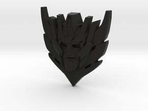 Rodimus Star Badge/Pendant in Black Premium Versatile Plastic: Small