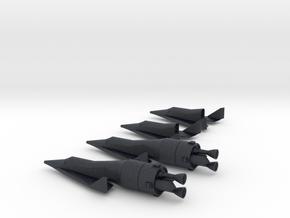 1/400 BOEING X-20 DYNA SOAR (4 VEHICLES) in Black PA12