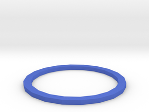 THIN BOLD RING in Blue Processed Versatile Plastic