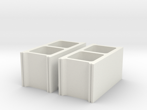 cinder blocks 1/12 pr in White Natural Versatile Plastic