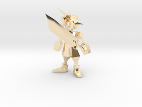 Final Fantasy 7 Cloud With Buster in 14k Gold Plated Brass: 1:8