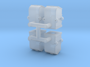 Flip top axlebox x4 in Smooth Fine Detail Plastic