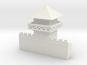 hadrian's wall  Watchtower 6mm 1/285 in White Natural Versatile Plastic