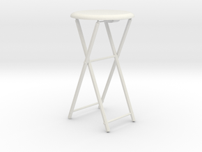 1/3rd scale Stool  in White Natural Versatile Plastic