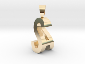 SA Monogram [pendant] in 14K Yellow Gold