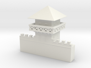 hadrian's wall Watchtower 1/144 in White Natural Versatile Plastic