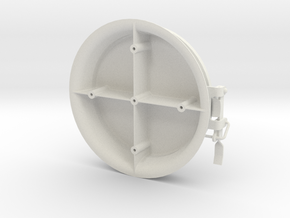 "1/8"" Scale PS 36 inch bowtie Hopper Hatch in White Natural Versatile Plastic"