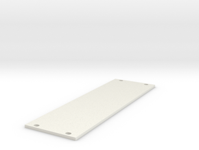 Eurorack Blank Panel 8HP in White Natural Versatile Plastic