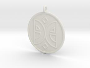 Arts Symbol in White Natural Versatile Plastic
