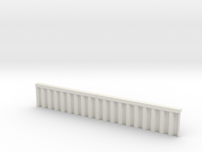 N Scale Sheet Piling Quay Wall H23 L142.5 in White Natural Versatile Plastic