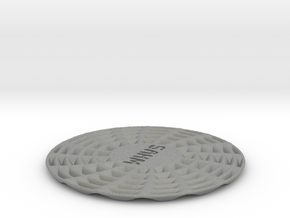 coaster Stay At Home Mom pinwheel round thick in Gray Professional Plastic