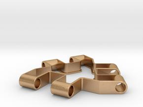 Material test part 1/2, Modular building block in Natural Bronze