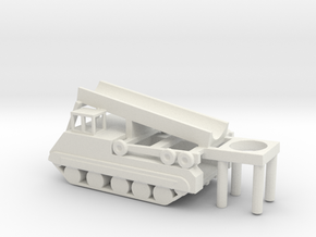 1/144 Scale M474 Pershing Launcher in White Natural Versatile Plastic