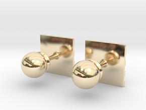 Chessboard Cufflinks in 14k Gold Plated Brass