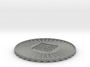 coaster wiggly Tinkercad in Gray Professional Plastic