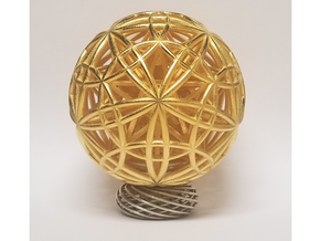 "Sphere of Sacred Union 4"" in Polished Gold Steel"