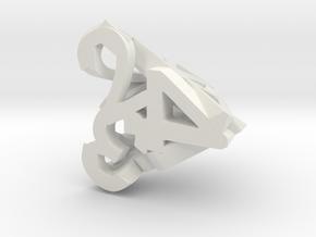 Hollow Dice in White Natural Versatile Plastic: d4