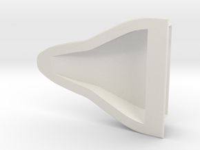 Small NACA Duct in White Natural Versatile Plastic