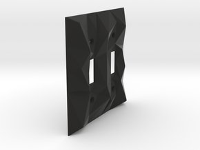 Facellux: Double Switch Wall Plate in Black Natural Versatile Plastic