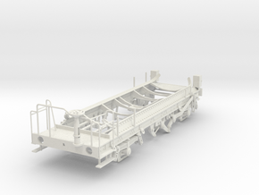 7mm Ferry tank wagon chassis in White Natural Versatile Plastic