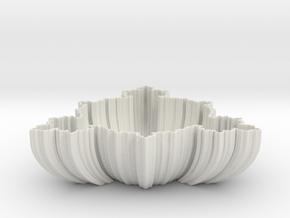 Fractal Bowl in White Natural Versatile Plastic