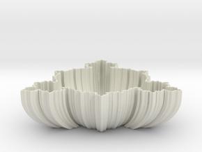 Fractal Bowl in Glossy Full Color Sandstone