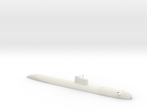 1/700 Scale USSR Tango Class Submarine Waterline in White Natural Versatile Plastic