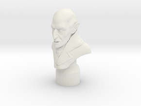 Nosferatu Bust in White Natural Versatile Plastic: 6mm