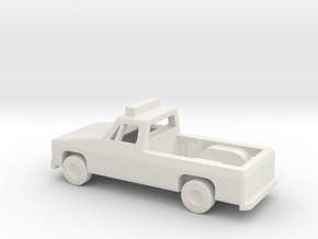 1/144 Scale Pickup With Lights in White Natural Versatile Plastic