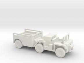 1/100 Scale M561 Gama Goat Open in White Natural Versatile Plastic