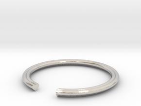 Heart 17.75mm in Rhodium Plated Brass