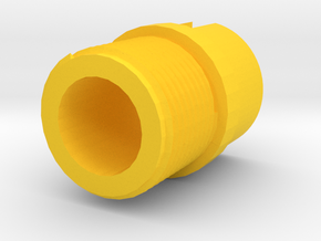 Incognito 14mm- Muzzle Adapter for MP5 Front Sight in Yellow Processed Versatile Plastic