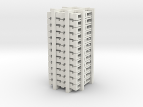 12 pallets - HO scale in White Natural Versatile Plastic