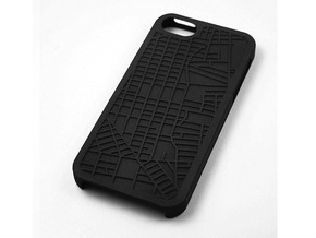 E. Williamsburg/ Bushwick Brooklyn Map iPhone 5/5s in Black Strong & Flexible