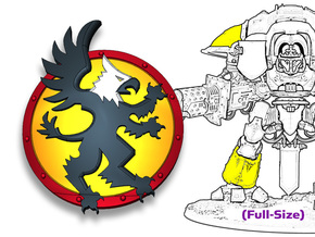Gryphon: Knight Insignias (Shoulder/Shin) in Smooth Fine Detail Plastic