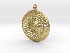 Sun  Pendant in Natural Brass