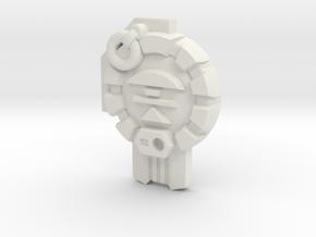 Combatron/Apocalypse Cyber Planet Key in White Natural Versatile Plastic