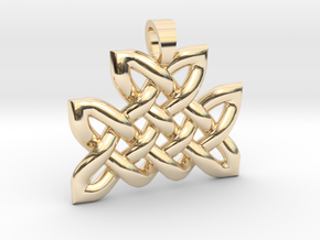 Celtic knot mountain [pendant] in 14k Gold Plated Brass