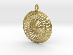Sun Pendant Ver2 in Natural Brass