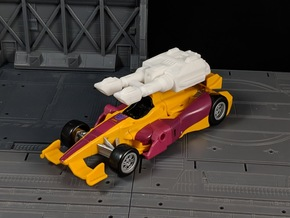 TF CW Dragstrip Car Cannon Seige Compatible in White Natural Versatile Plastic