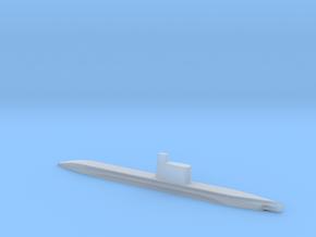 1/1250 Scale USSR Quebec Submarine Waterline in Smooth Fine Detail Plastic